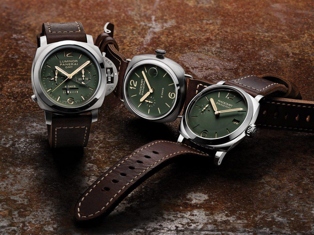 Panerai crée trois modèles exclusifs aux cadrans verts