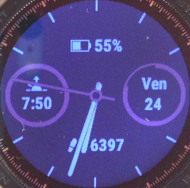Un des cadrans natifs de la montre mais personnalisé