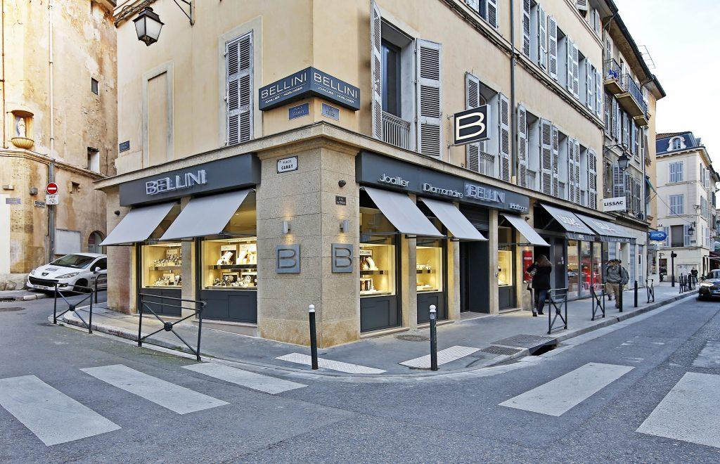 Bellini Joaillerie, rue Thiers à Aix-en-Provence