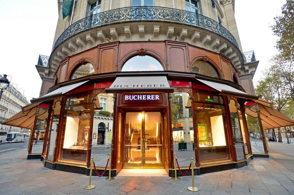 Après la boutique historique de Lucerne, la boutique de Paris, joyau du groupe Bucherer.