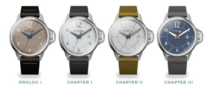 Les 4 modèles présentés offrent le choix entre un mouvement automatique et un mouvement à quartz.