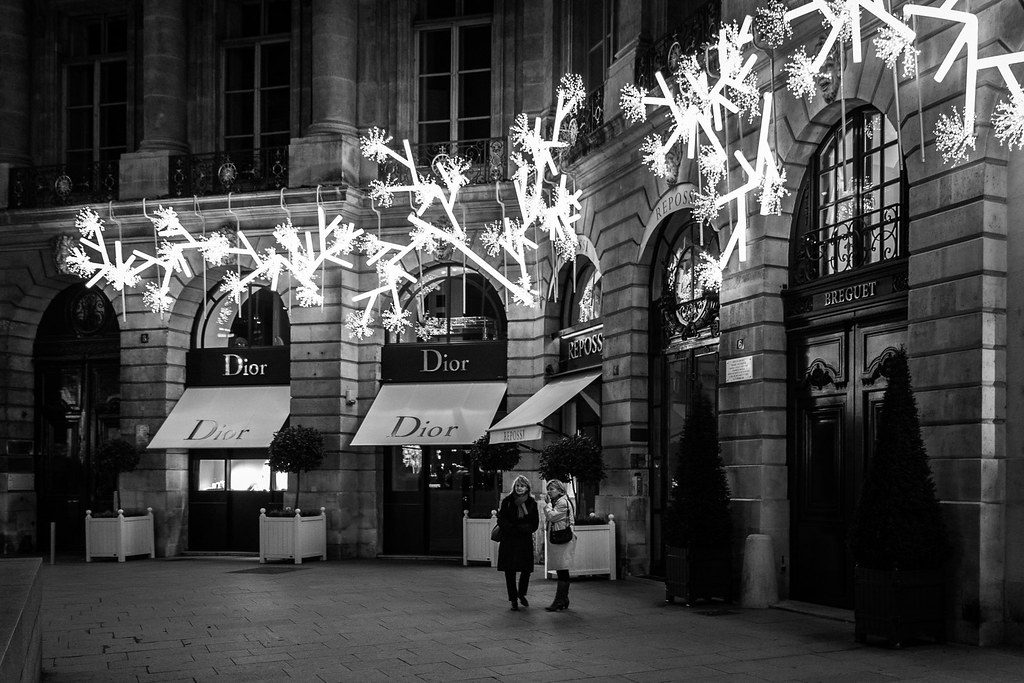 Place Vendôme en hiver - Photo Flickr - Crédit Cédric Meurens
