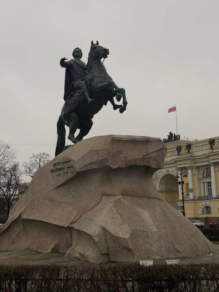 Statue équestre de Pierre le Grand à St Petersbourg