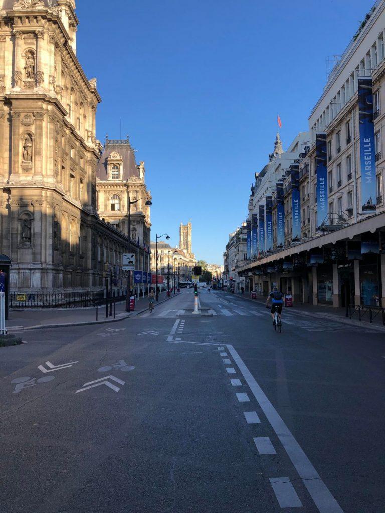 La rue de Rivoli à Paris